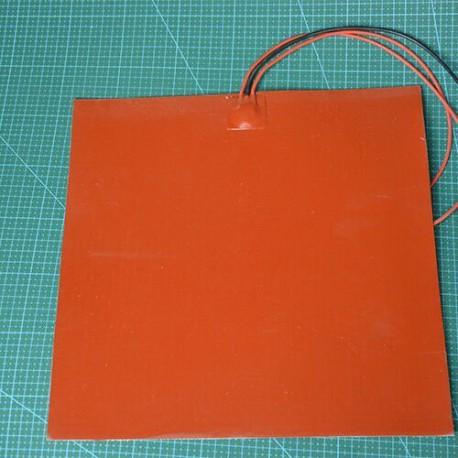 Силиконовый гибкий нагревательный элемент 100 x 100 мм 220в