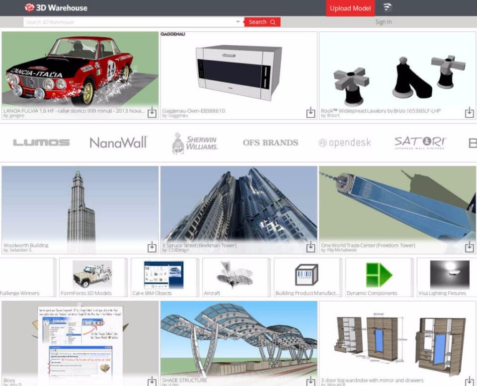 сайт 3D Warehouse