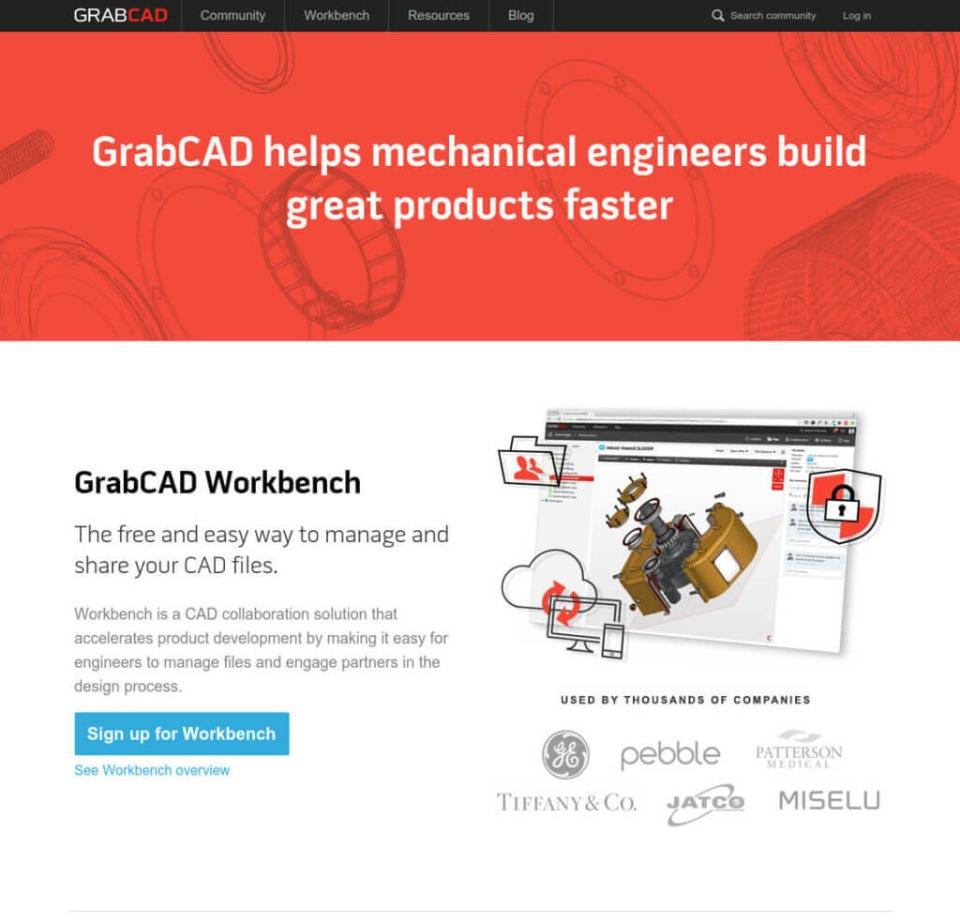 сайт GrabCAD
