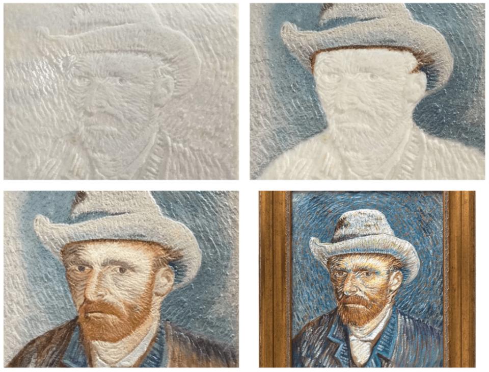 3D портрет Винсента Ван Гога