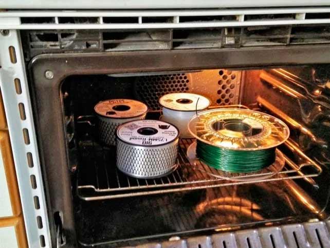 сушка филамента в духовке